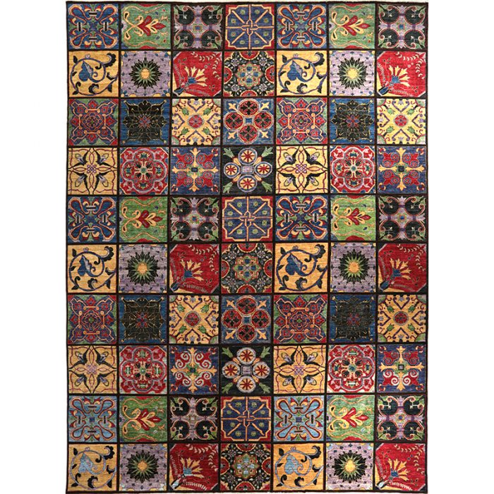 Transitional Arts and Crafts Style Area Rug 14.4x19.7 - A500692