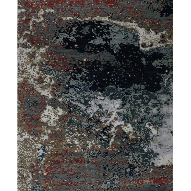 Modern Abstract Area Rug 12.1x14.10 - A500684