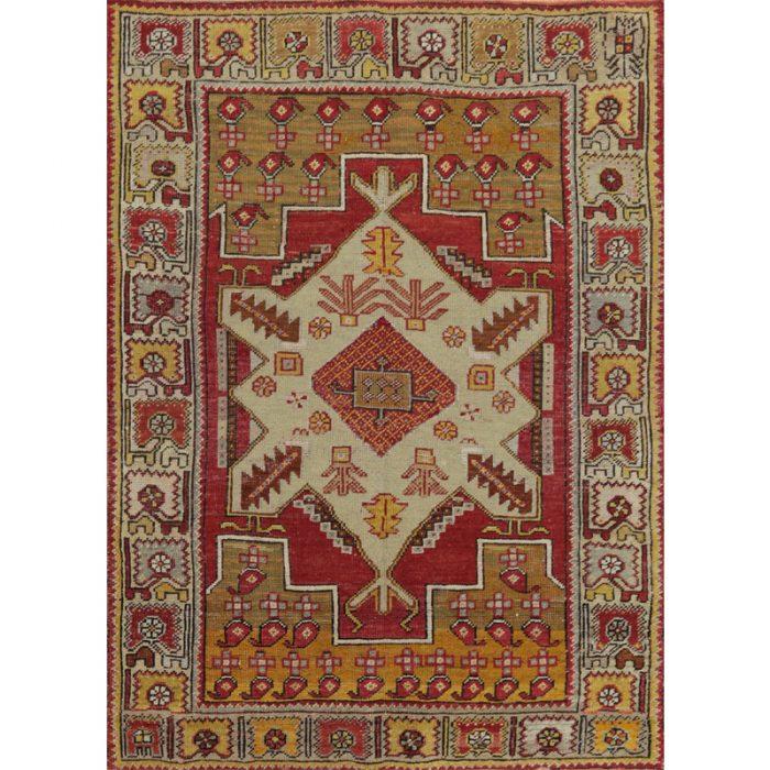 3x5 Antique Turkish Oushak Rug - 108245