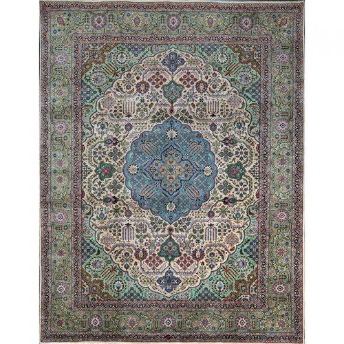 10x13 Old Persian Tabriz Area Rug - 110833