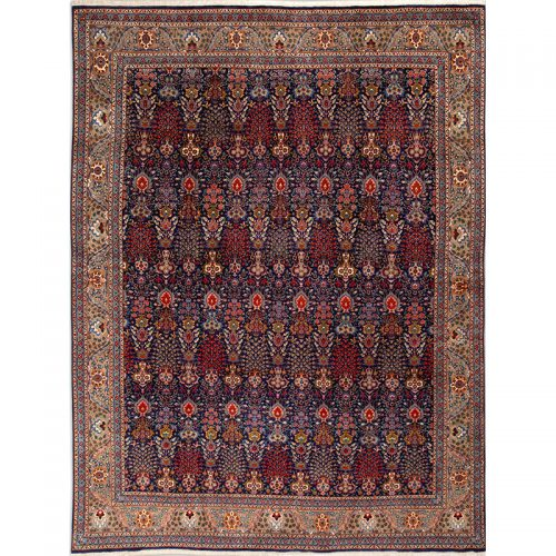 "9'8"" x 12'9"" Old Persian Tabriz Masterpiece Rug - 110818"