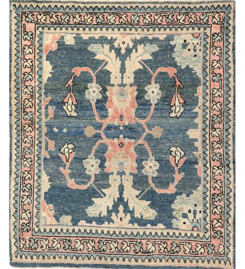 Old Persian Sultanabad Area Rug 4.4x5.2 - 110793