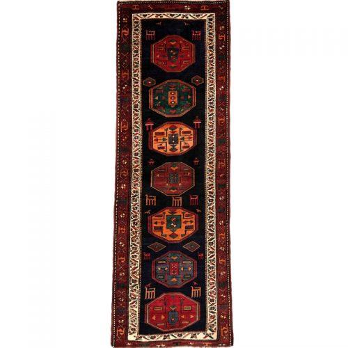"""3'10"""" x 11'1"""" Old Persian Hamedan Rug - 110760"""
