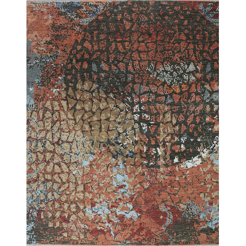 Modern Abstract Style Area Rug 10.0x14.1 - A501337