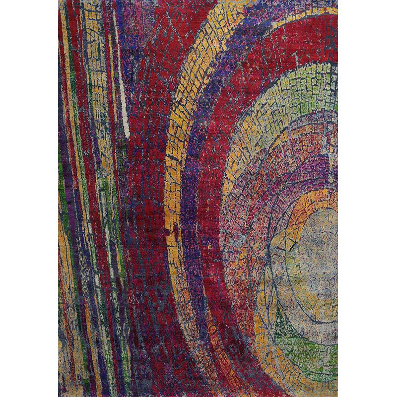 """9'11"""" x 14'3"""" Modern Abstract Rug - 501185"""