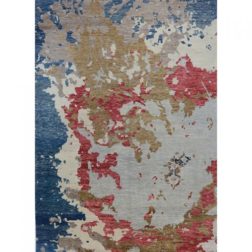 10x14 Modern Abstract Oushak Rug - 501004