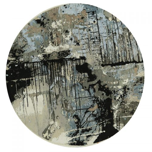 Round Modern Abstract Area Rug 8.0x8.0 - A501160