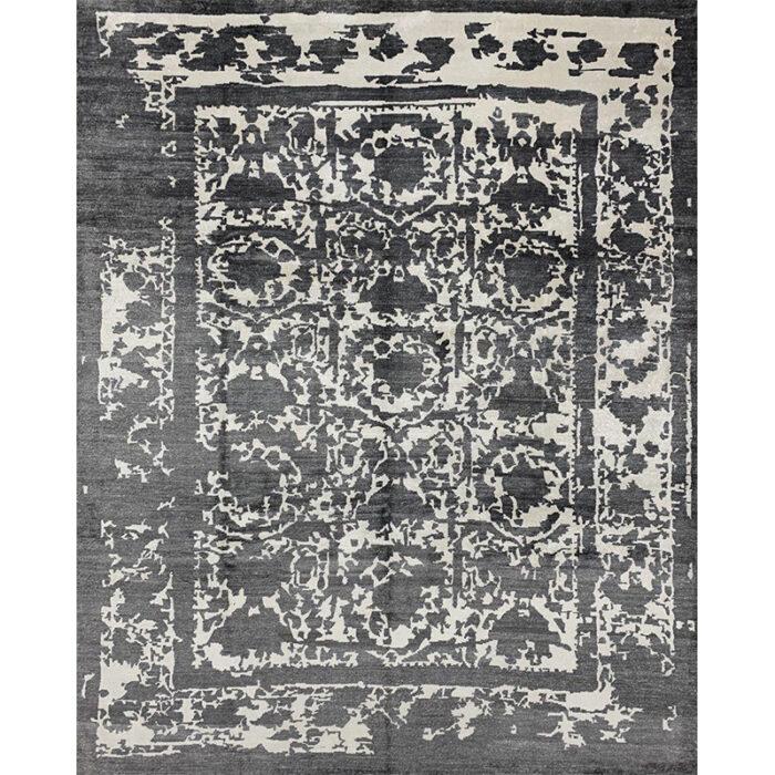 Modern Silk Area Rug 8.1x10.1 - A500962