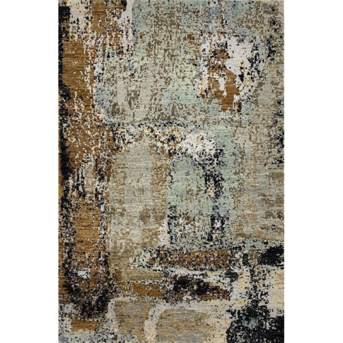 Modern Abstract Area Rug 4.1x6.1 - A501171