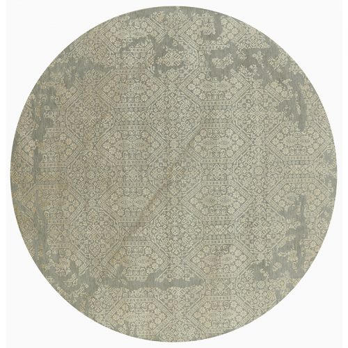 Round Transitional Style Area Rug 8.1x8.3 - A501108
