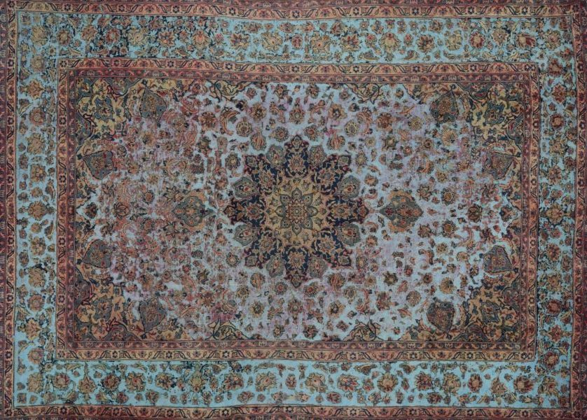Overdyed Persian Area Rug 9.5×13.5