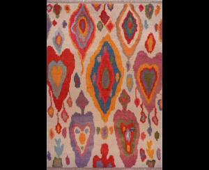 1990s Hand-woven angora rug