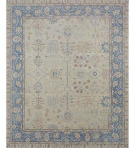 Oushak style area rug