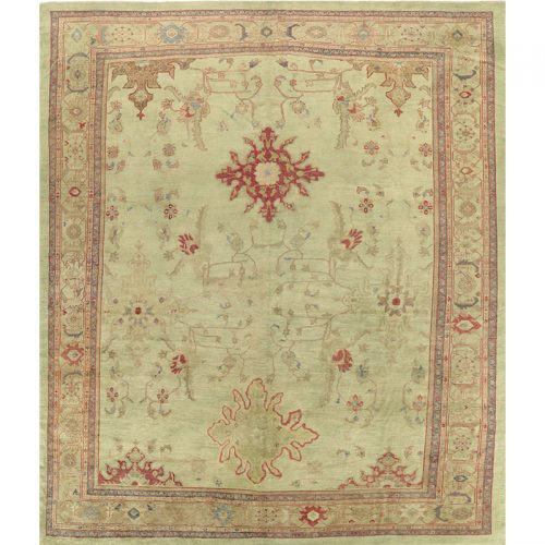 """13'0"""" x 14'10"""" Antique Persian Sultanabad Rug - 110972"""