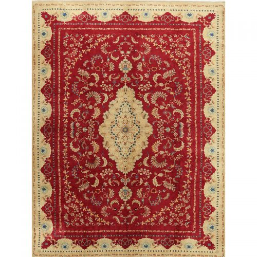 11x14 Old Persian Kashan Area Rug - 110975