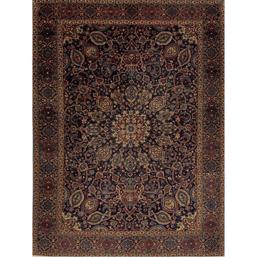 "4'6"" x 6'2"" Antique Persian Yazd Rug - 110949"