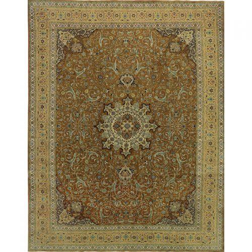 10x13 Old Persian Tabriz Area Rug - 110960