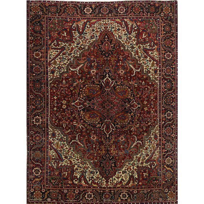 Old Persian Heriz Area Rug 9.10x13.0 - A110978