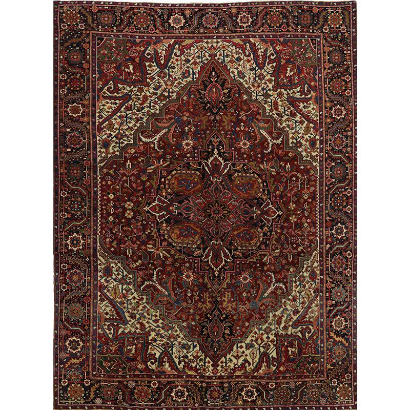 Old Persian Heriz Area Rug 9.10x13.0 - A110978
