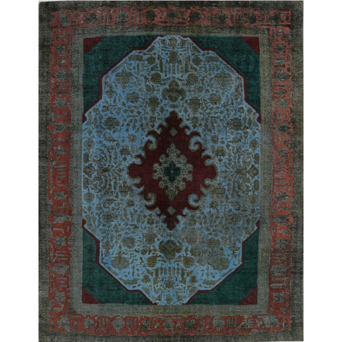 Over-dyed Persian Area Rug 10.0x12.10 - 110921