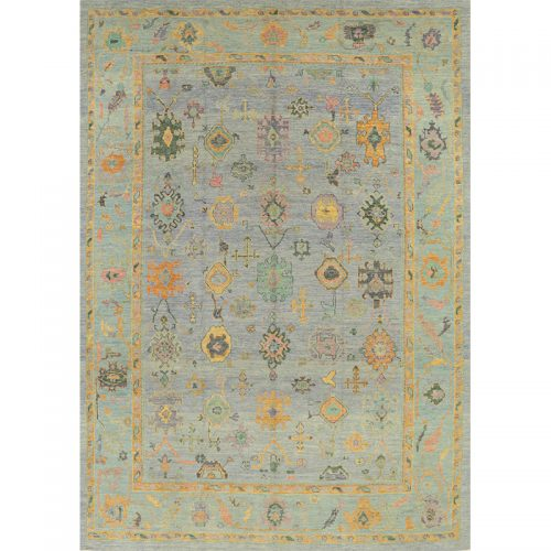 A110987 - Turkish Oushak Area Rug 10.5x14.6 (1)