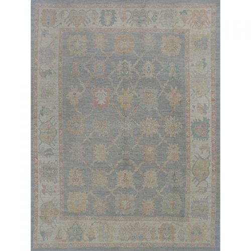 A110996 – Turkish Oushak Area Rug 9.3×12.6
