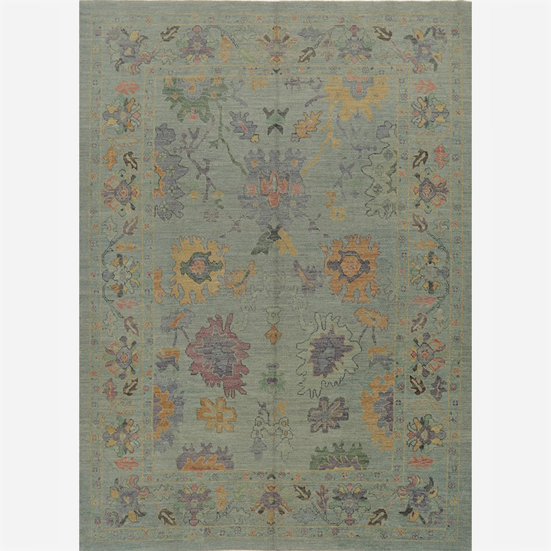 A110990 – Turkish Oushak Area Rug 8.11×12.6