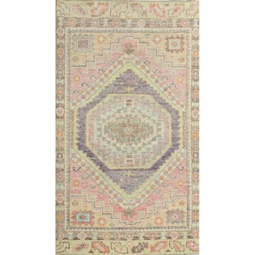 3x5 Pink Turkish Oushak Rug - 110991
