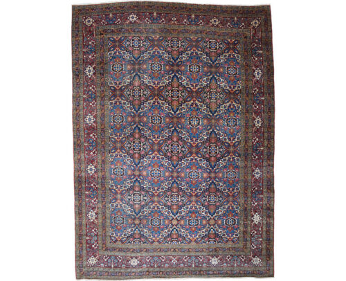 Antique Persian Yazd Area Rug 11.4x15.9 - A107792