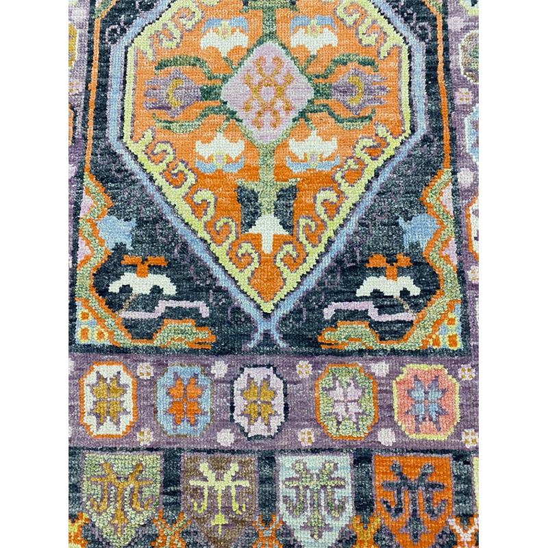 3x5 Black Turkish Oushak Rug - 110999