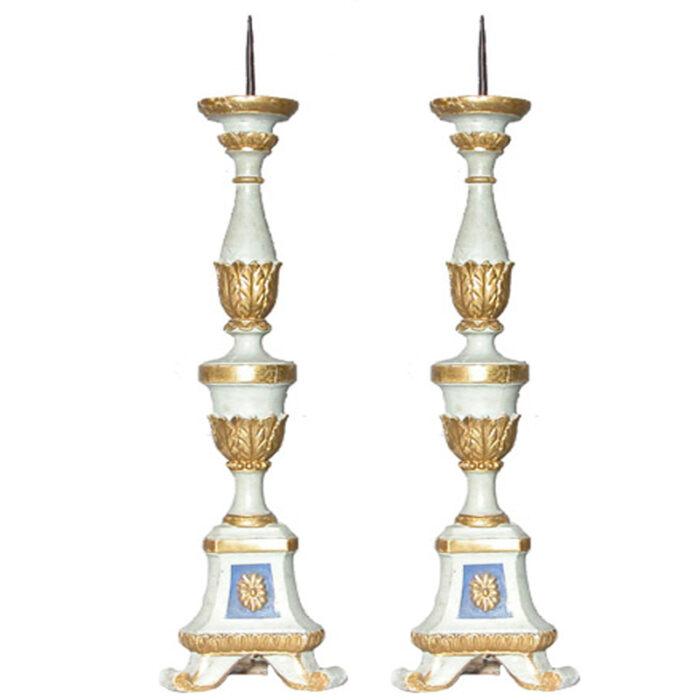 Antique Italian Candlesticks - RenID 886