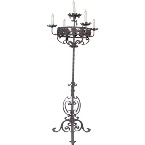 Rustic 18th Century Antique Italian Candelabra - RenID 2753