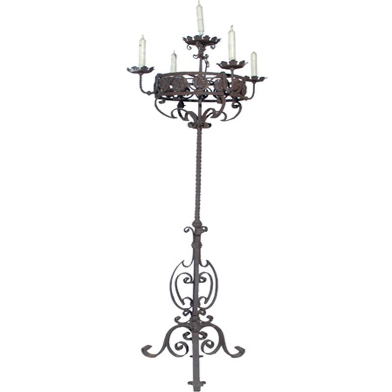 Rustic 18th Century Antique Italian Candelabra - RenID 2753
