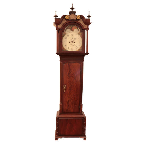Antique English Mahogany Grandfather Clock - RenID 4356