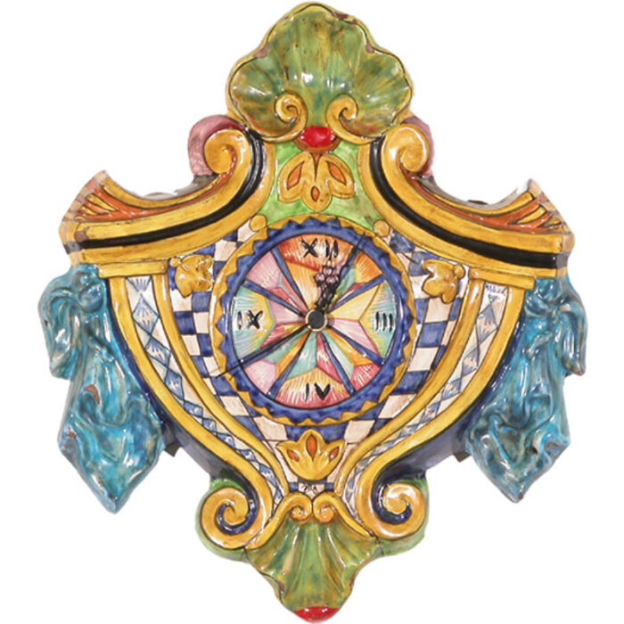 Hand-painted Ceramic Wall Clock - RenID 2208