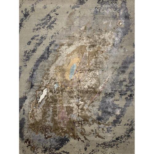 """9'2"""" x 12'1"""" Modern Abstract Rug - 501302"""