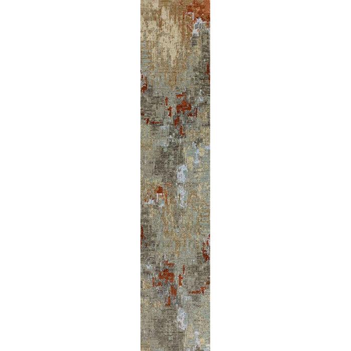 Modern Abstract Area Rug 2.6x12.3 - A501389