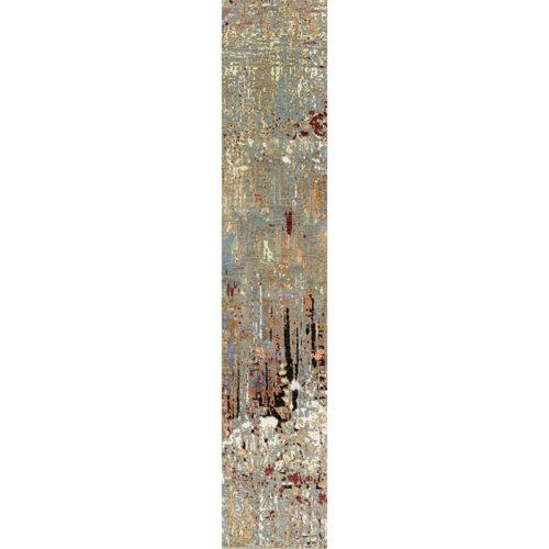 """2'6"""" x 12'1"""" Modern Abstract Runner - 501390"""