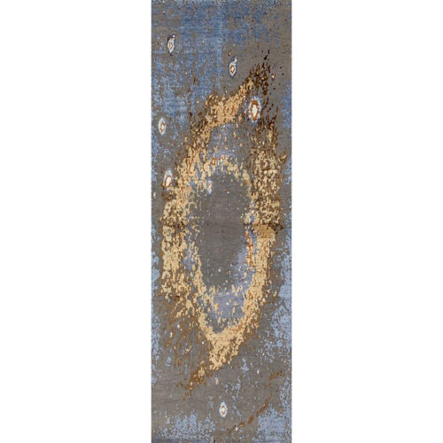 Modern Abstract Area Rug 2.7 x 8.3 - A501402