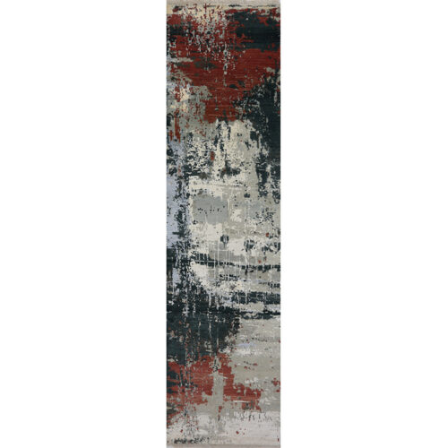 Modern Abstract Area Rug 2.6x10.2 - B500731