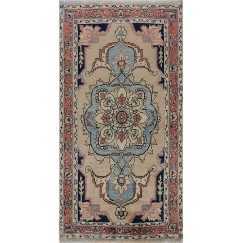Old Persian Heriz Area Rug 2.9x5.7 - A110563