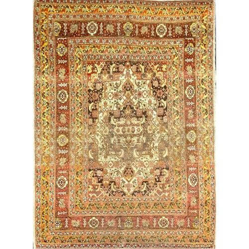 "4'0"" x 5'0"" Antique Persian Tabriz Rug - 500781"
