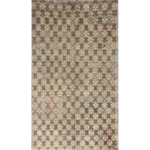 5x8 Old Green Turkish Anatolian Rug - 108500