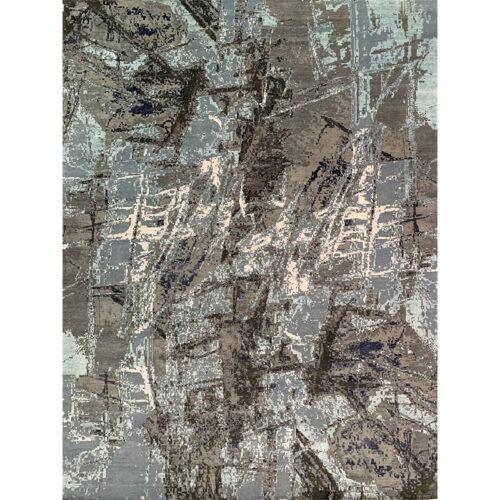 """12'3"""" x 15'5"""" Modern Abstract Rug - 501491"""