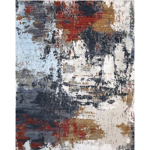 """12'1"""" x 15'1"""" Modern Abstract Rug - 501420"""