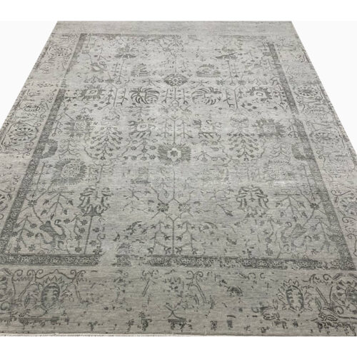 9'0x12'0 Gray Transitional Area Rug - 501446b