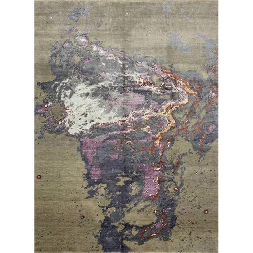 "9'1"" x 12'1"" Modern Abstract Area Rug - 501355"