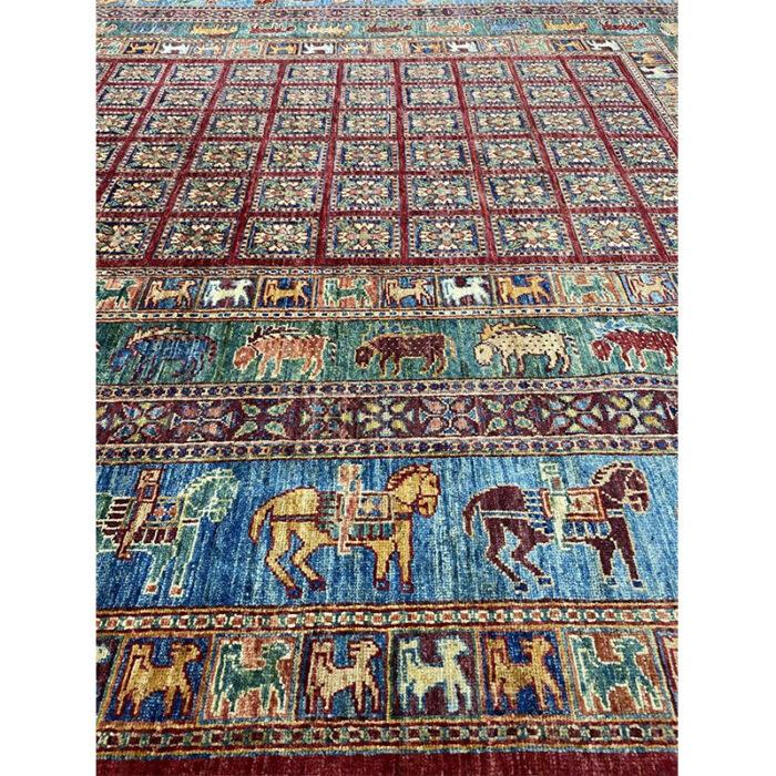animal print Turkmen Style Area Rug