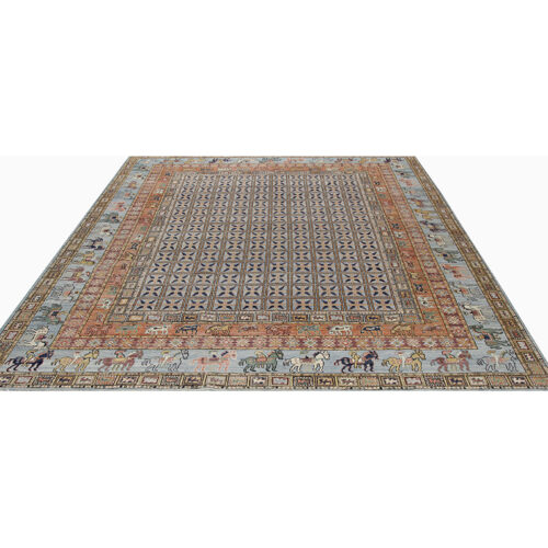 animal print Turkmen Style Area Rug