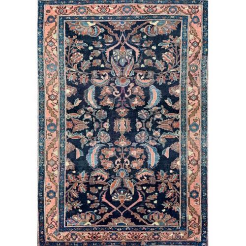 4x7 Antique Persian Lilihan Area Rug - 501558